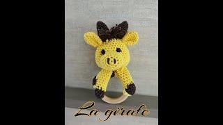 """Tuto Crochet """"Hochet Bébé ou Anneau de Dentition"""" (la Girafe)"""